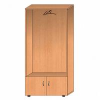 Шкафы с выдвижной штангой