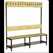 Вешалка-скамейка 1-но сторонняя 16 крючков